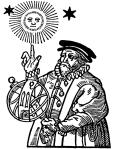 woodcut of 12 century pre-scientist