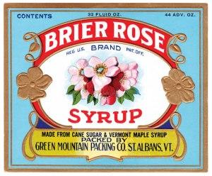 Brier Rose Syrup label