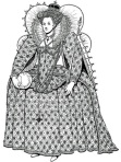 b&w rendering of Queen Elizabeth I