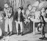 "Fagan with ""The Artful Dodger"" standing beside him in original illustration Oliver Twist"
