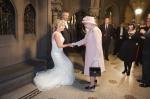 A bride greets the queen