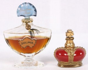 Shalimar fragrance and Prince Machabelli bottles