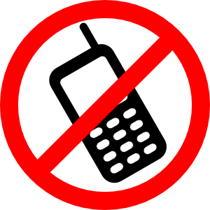 no cell phone calls